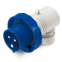 DKC Вилка кабельная угловая IP67 16А 2P+E 230В