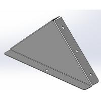 DKC Заглушка к двускатной крышки 200, цинк-ламель (аналог горячий цинк)