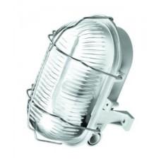 LL Oval Simetal2 1x60W E27 Светильник накладной белый (металл.реш.) IP44