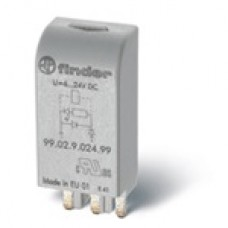 Finder Модули индикации и защиты, Зеленый светодиод, 110...240В AC/DC