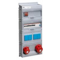 ABB CEWE Бокс MPR32/1MS с розетками в сборе, IP44, пластик