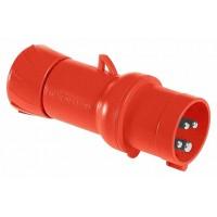 SE PratiKa Вилка кабельная, быстрозажимное соединение, 32А 3P+E IP44 380В
