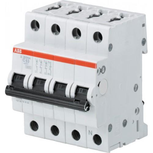 ABB S203 Автоматический выключатель 3P+N 25А (С) 6кА