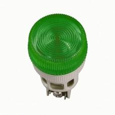 IEK Лампа ENR-22 сигнальная d22мм зеленый неон/240В цилиндр