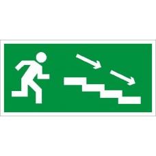 СТ ПЭУ 004 Наклейка По лестнице вниз направо для аварийного светильника