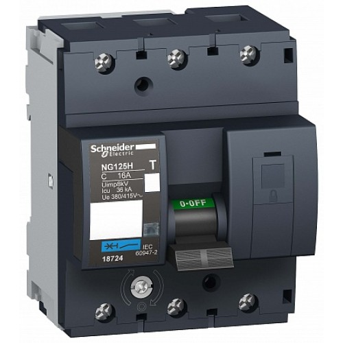 SE Acti 9 NG125H Автоматический выключатель 3P 16A (C)