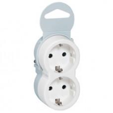 Legrand Элиум Белый Розетка переносная 2х2Р+Е, 16А, вертикальное подключение, пластик