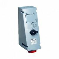 ABB CEWE Разъем 32A 3P+N+E IP67(рубильник с мех. блокировкой, отделение на 4 мод)
