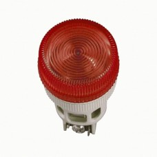 IEK Лампа ENR-22 сигнальная d22мм красный неон/240В цилиндр