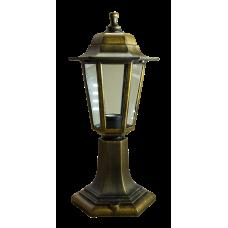 Italmac Светильник садово-парковый шестигранный на стойке 60вт, Е27, бронза, IP44 прозрачное стекло, корпус - полипропилен,  габариты 400*180 мм