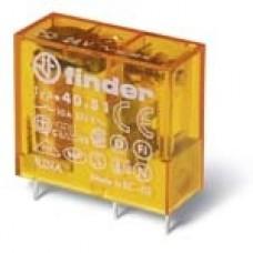 Finder Миниатюрные PCB-реле, выводы с шагом 5мм, Контакты AgNi, 1CO 10A, катушка DC