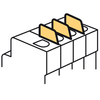 Legrand DX3  Фальш-модуль для модульных аппаратов DX3 - 0,5 модуля