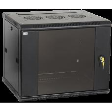 IEK ITK Шкаф LINEA W 9U 600x600 мм дверь стекло, RAL9005