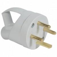 Legrand Розетка 3К+З с кольцом, 20А, выход кабеля сбоку, пластик