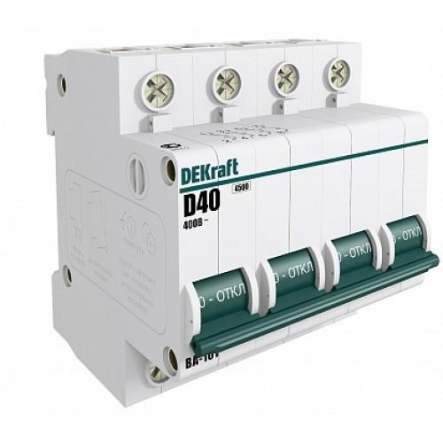 DEKraft ВА-101 Автоматический выключатель 4Р 50А (B) 4,5кА