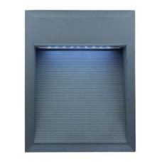 LL LED BILEO F 1,8W Светильник для дек. подс, встр в стену, сереб, 27xLED, IP65 4000К 234х185х94