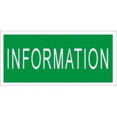 СТ ПИУ 001 Пиктограмма Информация для аварийного светильника (210х95)