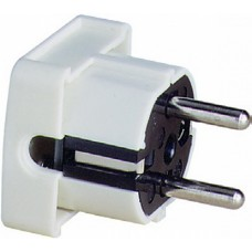 ABL Вилка с/з, термопласт, 16A, 2P+E, 250V, (белый)