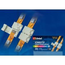 Uniel Клемма соединительная для лент LED 5050 RGB, 4 контакта, IP20, цвет белый, 20 штук в пакет