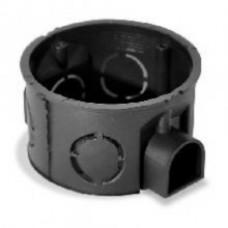 PE Коробка монтажная 1-ая для сплошных стен d=68 глубина 40мм IP20, возможность стыковки