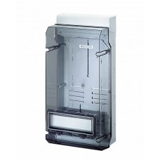 Hensel KV Бокс прозр. дверь с пломб 12 мод., DIN-рейка IP65(295х583х182)