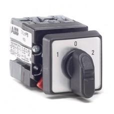ABB OM Переключатель OMVN3PB для вольтметра миниатюрный 4-поз.(L1-L2,L2 -L3,L3-L1) (двухуровневый) 10 А РФ