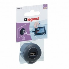 Legrand USB д/зарядки 1.5А черн