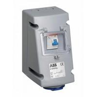 ABB RPR Розетка с УЗО 232RPR6, 32А, 2Р+Е, IP44, 6ч