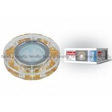Uniel Fametto Peonia Светильник LED GU5.3 металл/хром/стекло/цвет прозрачный с элементами золота