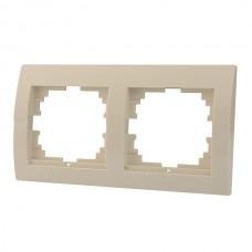 DERIY Рамка 2-ая горизонтальная  крем (10шт/120шт)