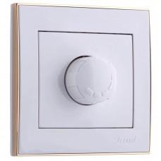 RAIN Диммер 800 Вт белый с  бок. вст. золото (10шт/120шт)