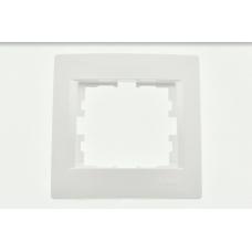 KARINA Рамка 1-ая горизонтальная б/вст белая (20шт/240шт)