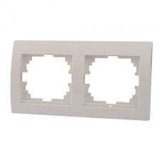 DERIY Рамка 2-ая горизонтальная  белый (10шт/120шт)
