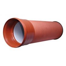 Труба двухслойная ф117/100 SN8(6м)с раструбом (в т.ч. кольцо)