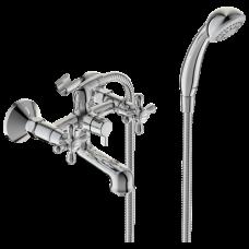 Смеситель для ванны с душем серия RETRO двуручный Vidima