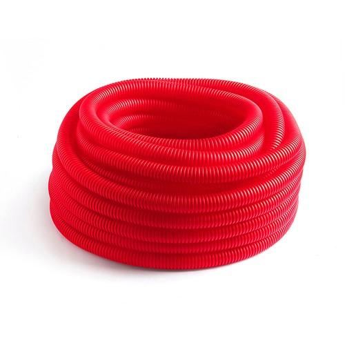 Шланг гофрированный для PE-X красный РОС