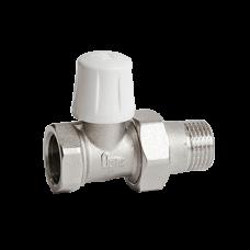 Клапан запорный для радиатора никель Ру10 ВР прямой Ogint