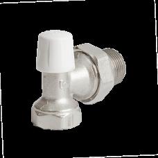 Клапан запорный для радиатора никель Ру10 ВР угловой Ogint