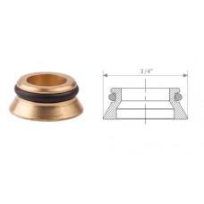 Переходник R483 евроконус-плоскость латунь с герметичной прокладкой Giacomini