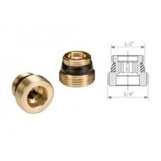 Переходник для узла нижнего подключения R483 латунь с герметичной прокладкой Giacomini