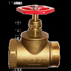 Клапан запорный прямой латунь 15б1р ВР/НР Цветлит