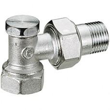 Клапан запорный для радиатора R16D2 хром Ру16 ВР угловой Giacomini