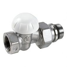 Клапан запорный для радиатора R15TG хром Ру16 ВР прямой штуцер с герметичной прокладкой Giacomini