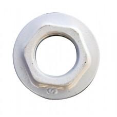 Пробка проходная стальная без прокладки для алюминиевых/биметаллических радиаторов белый Ogint