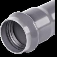 Труба НПВХ SDR21 серая Ру12,5 раструбная Хемкор