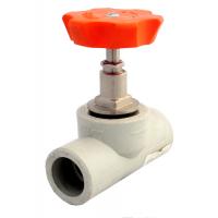 Клапан (вентиль) PP-R 45 гр запорный серый VALFEX