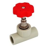 Клапан (вентиль) PP-R 90 гр запорный серый РосТурПласт
