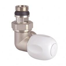Клапан термостатический арт. 1142 для двухтр никель Ру10 угловой трёхосевой ВР гайка М28х1,5 лев штуцер с герметичной прокладкой Icma