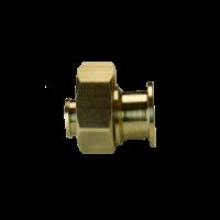 Соединитель для PE-X латунь с накидной гайкой РОС