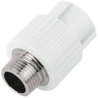 Муфта PP-R комбинированная белая VALFEX